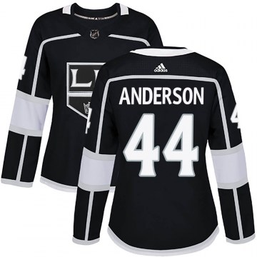 Adidas Los Angeles Kings Women's Mikey Anderson Authentic Black ized Home NHL Jersey